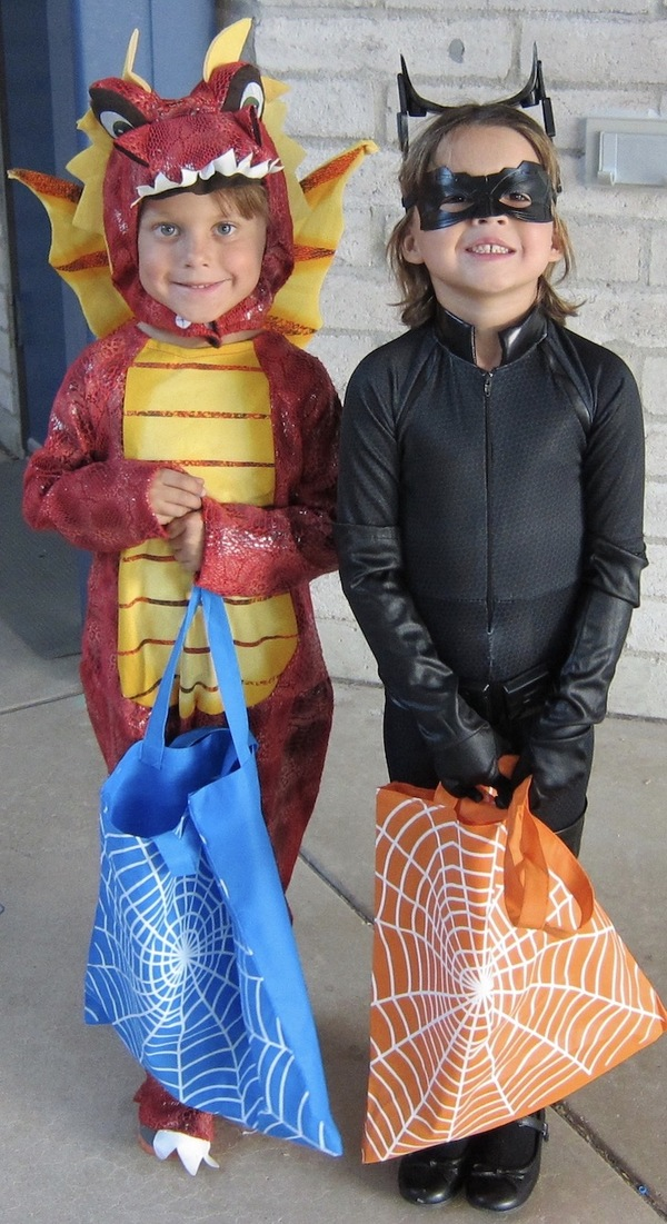 two students in costume